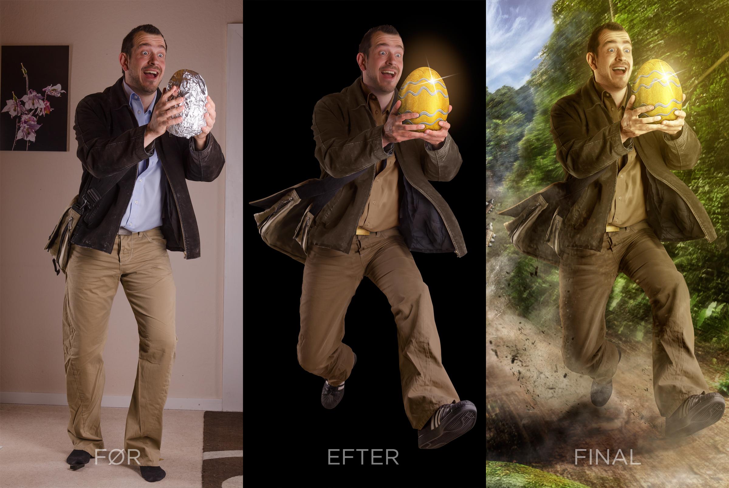 Sammensat karakter af fire foreskellige billeder.